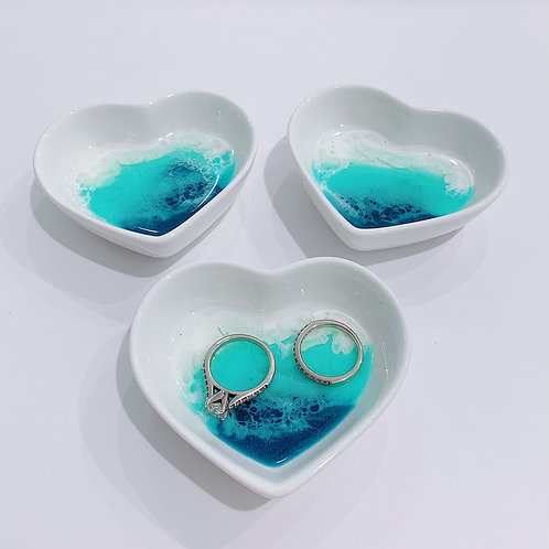 Heart Shaped Porcelain Beach Scapes