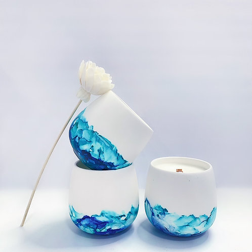 Ceramic Alcohol Ink Candles