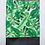 Thumbnail: Monstera Print handsewn foldover clutch.