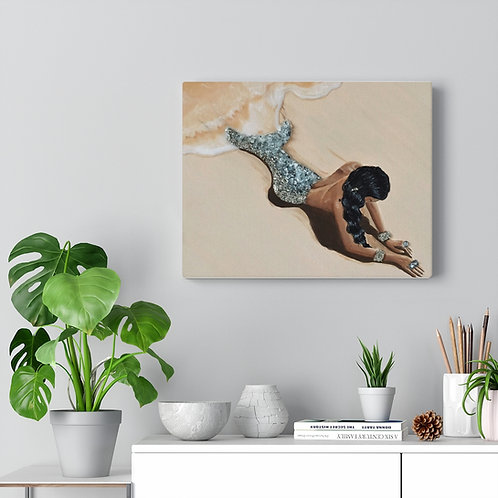 Washed Up - Mermaid - Canvas Gallery Wrap 8X10""