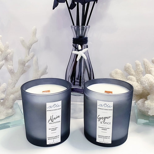 Black Frost Ocean Resin Lid Candle