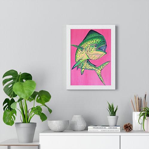 """Spicy Mahi"" Premium Framed Vertical Poster - Wht or Blk frame"