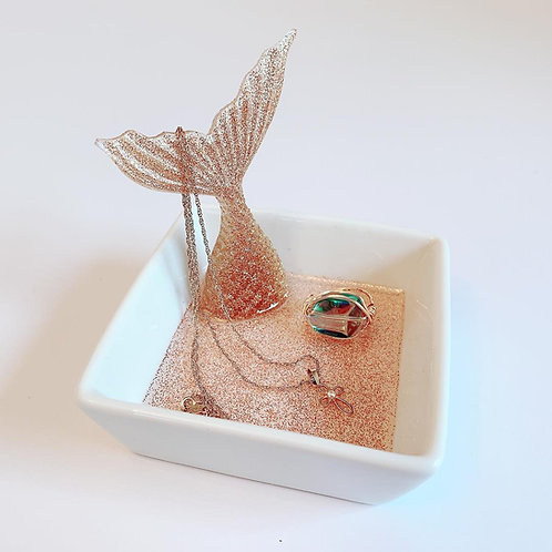 Mermaid Tail Ring Holder | Ring Dish | Ring Plate | Resin Art | Mermaid Art | Je