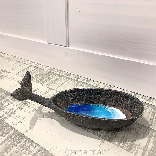 Cast Iron Ocean Bowl Whale