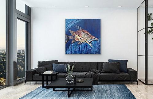 Hog Fish Original Painting - 24X24