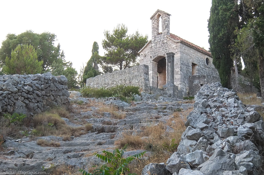 A hidden church. The Dalmatian coast is the most beautiful in the world. Hvar is the place to go for the partying and with a majestic castle view. Read the blog for more.