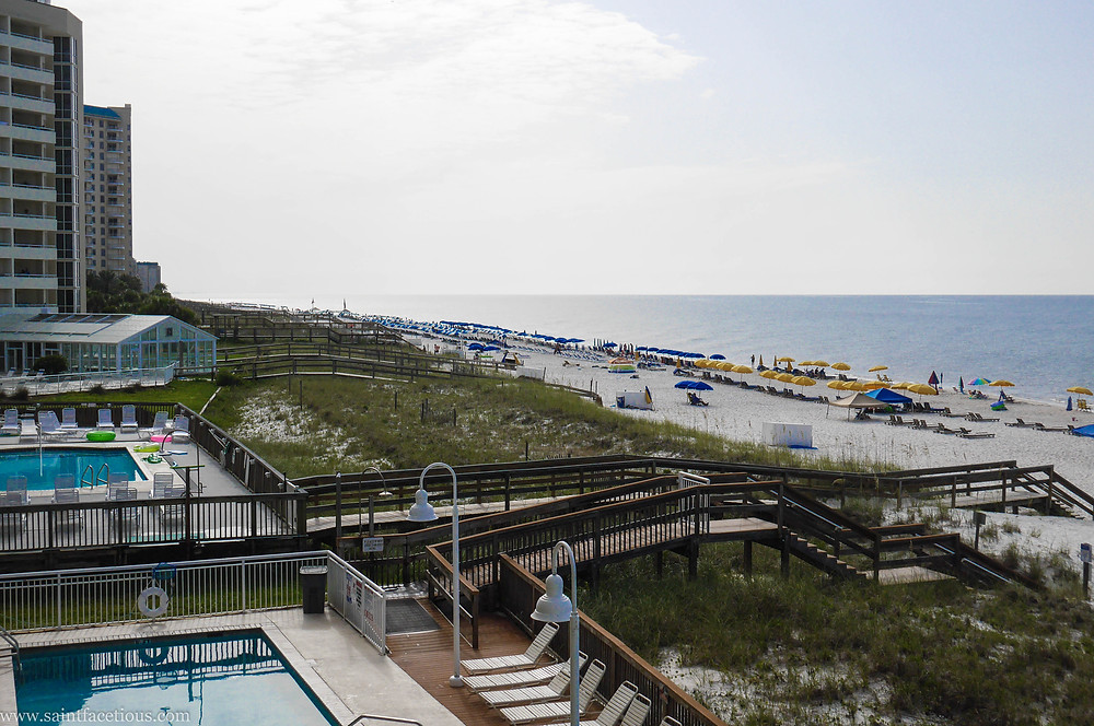 Beach view from the resort. For a beach lover, there are few places better in the world than Florida and South Alabama. Read more about where to go on Perdido Key.
