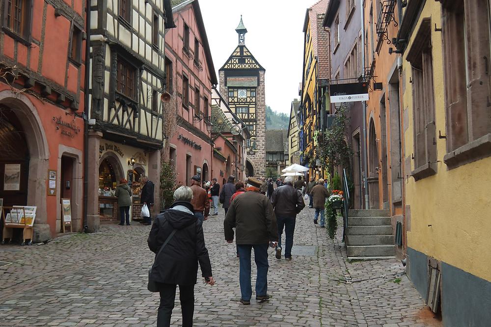 the main street of Riquewihr