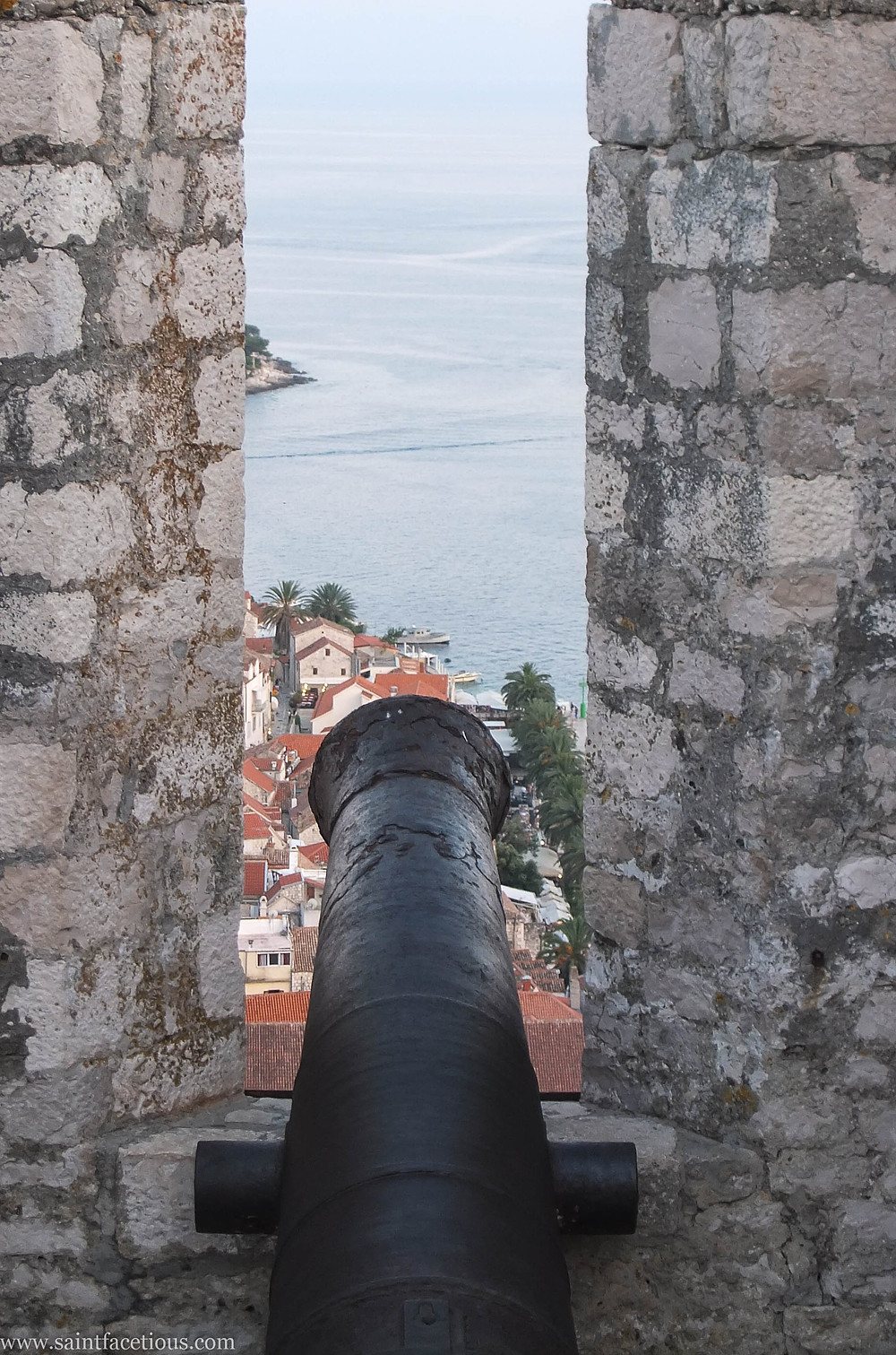 Cannons. The Dalmatian coast is the most beautiful in the world. Hvar is the place to go for the partying and with a majestic castle view. Read the blog for more.