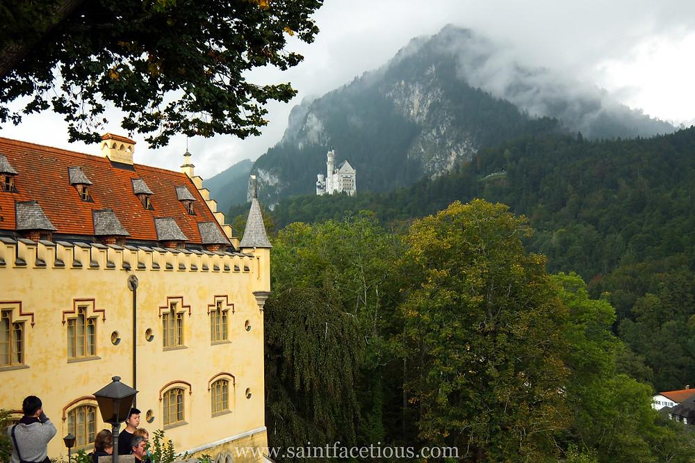 looking at Neuschwanstein from Hohenschwangau