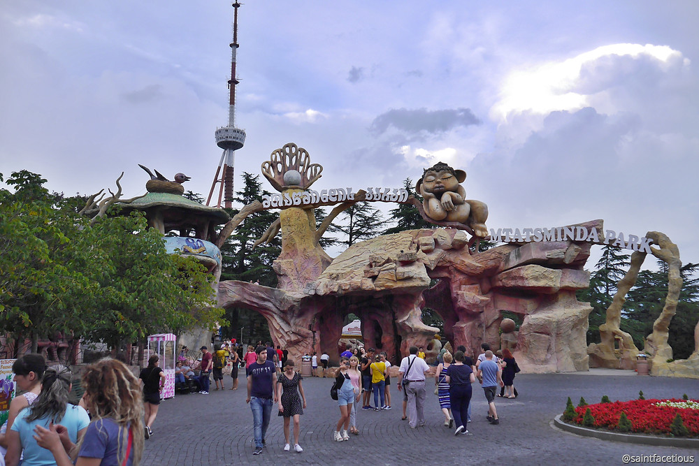 mtatsminda theme park entrance