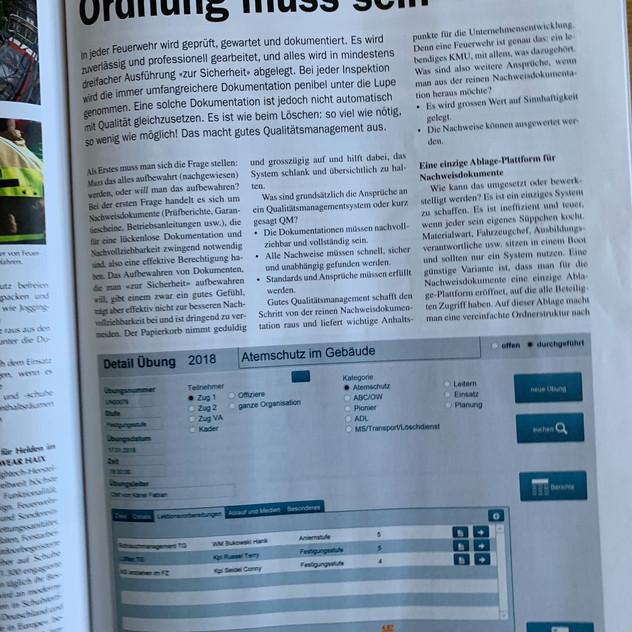 Fachzeitschrift Swiss Fire