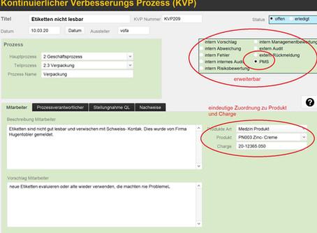 Integriertes Management: post market surveillance (PMS)