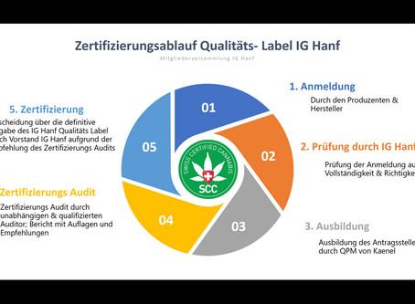 Qualitäts-Label Swiss Certified Cannabis SCC