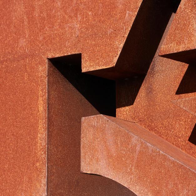 Rustikale Metallstruktur