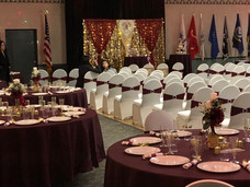 WEdding party setup at Albertson VFW