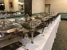 buffet line at the VFW Hall