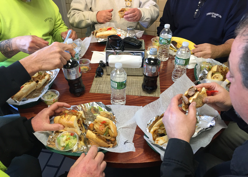 italian sauage heroes fresh off the grill