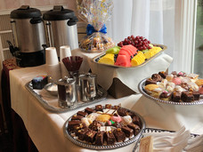 Coffee service catered by Felico's Catering