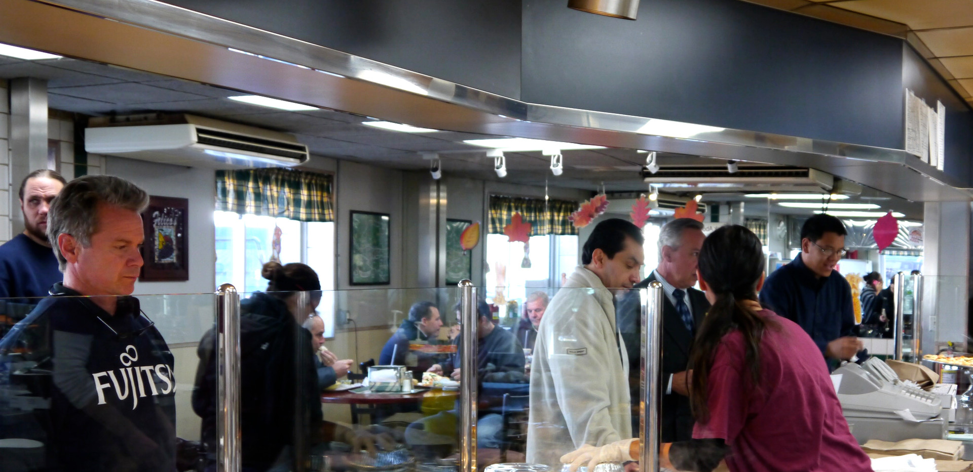 lunch rush at Felico's Restaurant