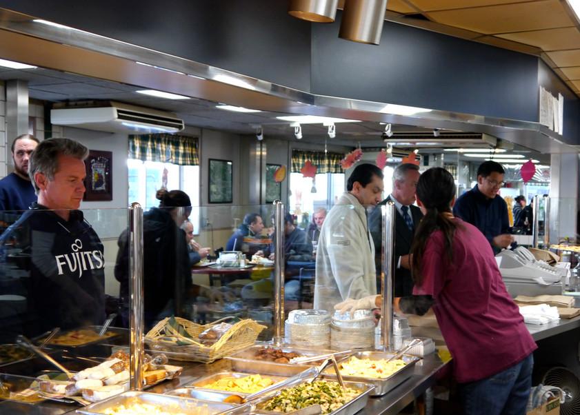 lunch rush at Felico's Restaurant