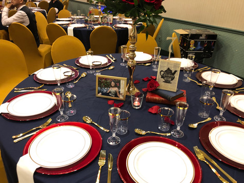 Table setup VFW Hall in Albertson