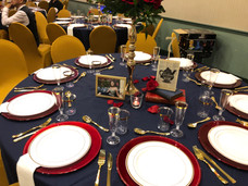 Table setup VFW Hall in Albertson