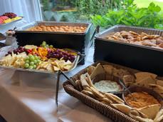 Appetizer table setup