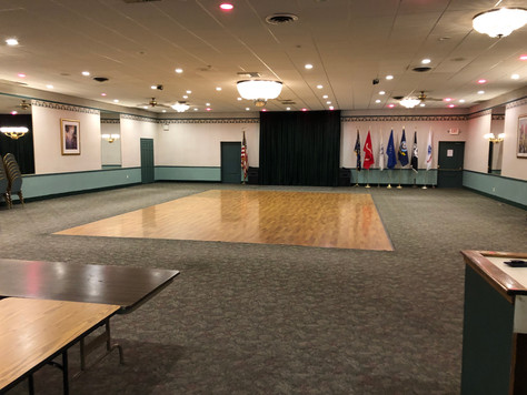 Empty VFW Hall view in Albertson NY