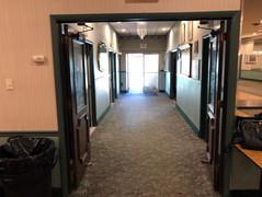 Hallway in VFW Hall in Albertson