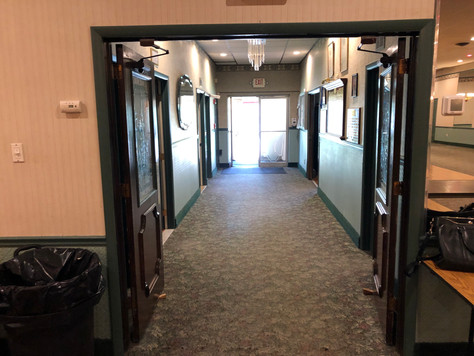 Hallway in VFW Hall in Albertson