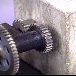 Machine with Concrete