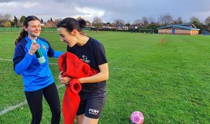 A little bit of football - Carrie Ellwoo