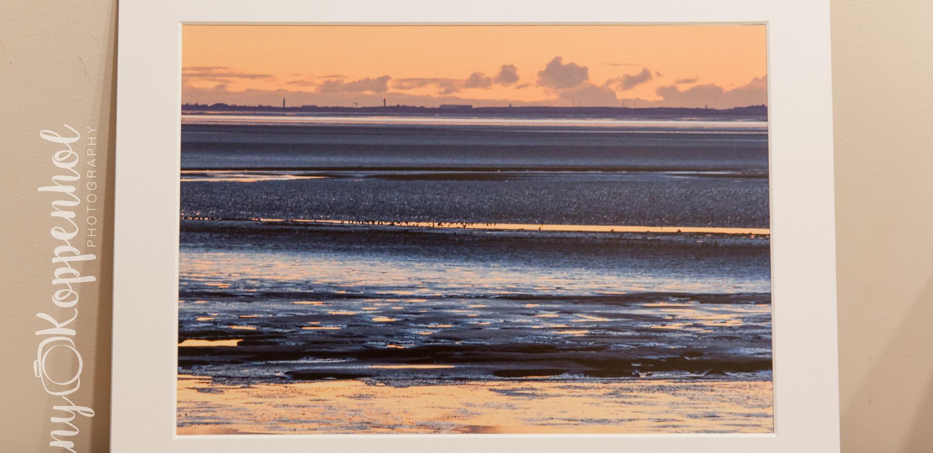 Sunset Over Morecambe Sands