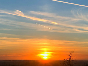 sunset over Parbold Hill Louise Robinson