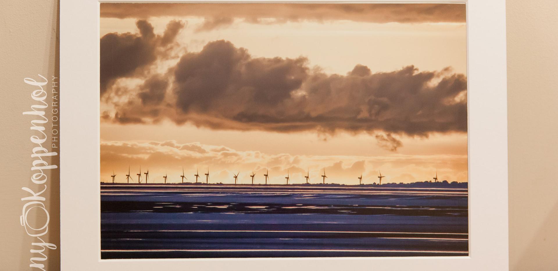 Windmills from Heysham Battery