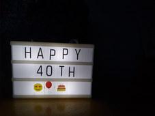 Light Up Birthday Sign - Joanna Cameron.