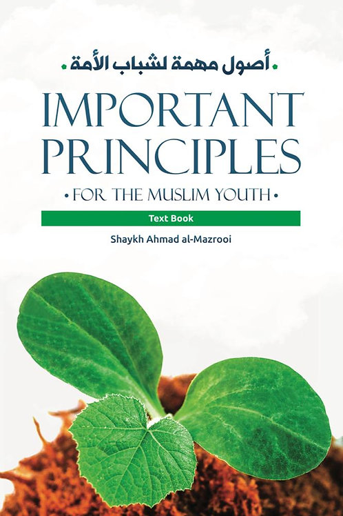 Important Principles for the Muslim Youth (workbook) Shaykh Ahmad al-Mazrui