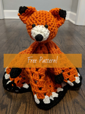 Friendly Fox Blanket Buddy (Free Pattern)