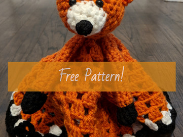 Friendly Fox Blanket Buddy (Free Pattern)