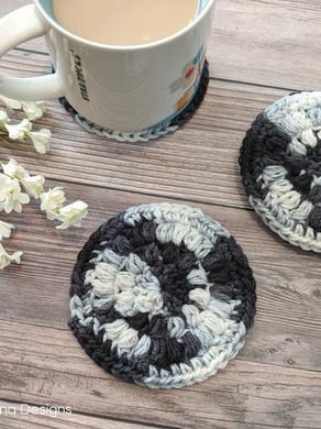 Simple Puff-Stitch Coasters