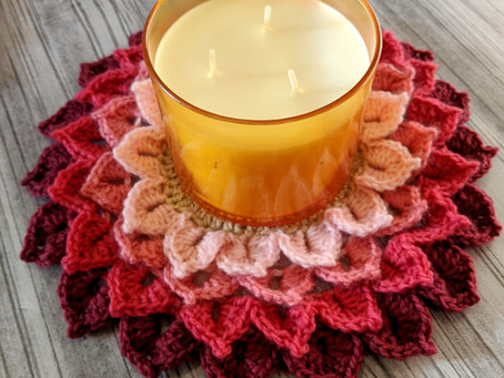 Flower Candle Coaster