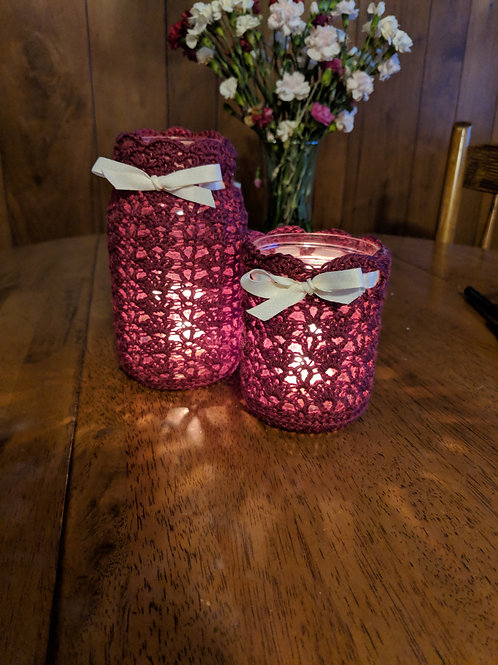 Lovely Lace Mason Jar Cover Pattern