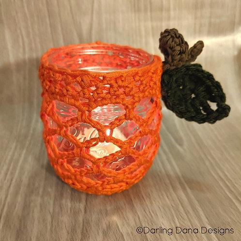 Trellis Pumpkin Jar Cover Pattern