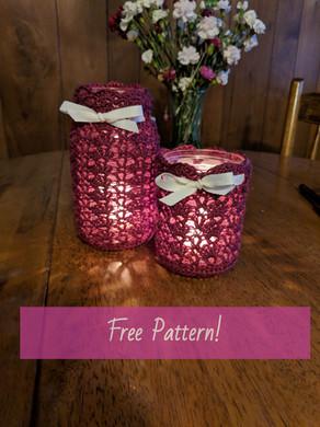 Lace Mason Jar Covers (Free Pattern)