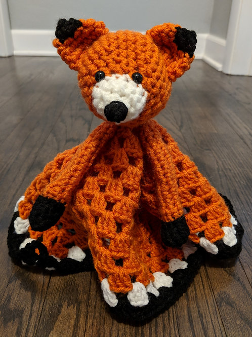 Friendly Fox Blanket Buddy Crochet Pattern