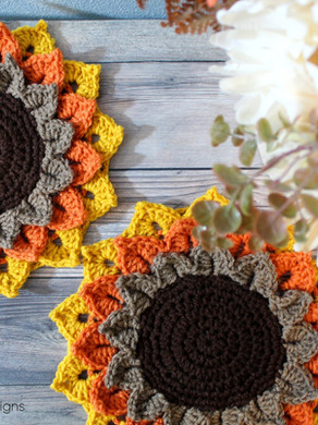 Sunflower Candle Coaster