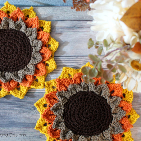 Sunflower Candle Coaster