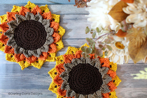 Flower Candle Coaster Crochet Pattern *Instant Download*