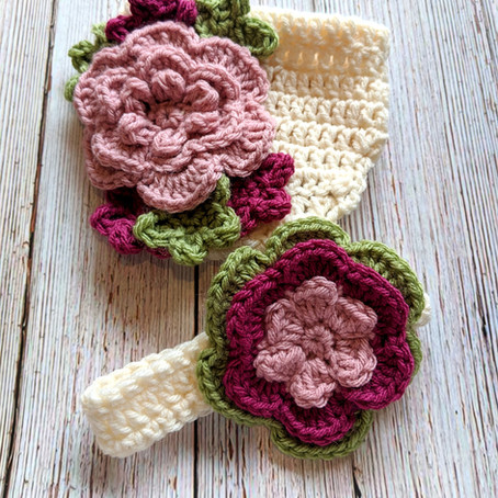 Floral Diaper Cover and Headband